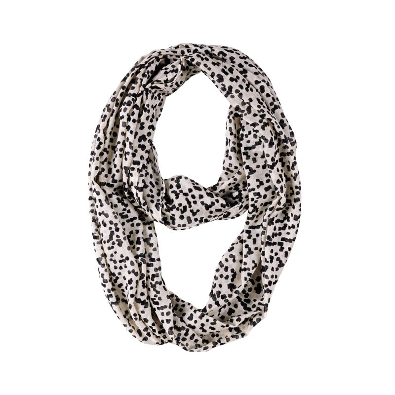 Black Brushed Dot Infinity Scarf 20x70
