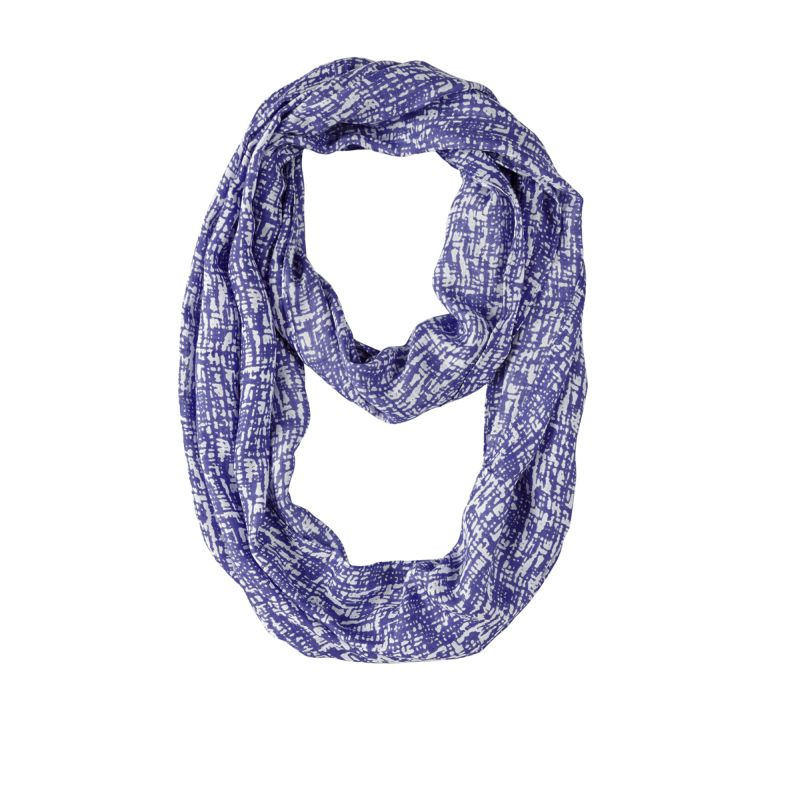 Ultra Violet Abstract Infinity Scarf 20x70