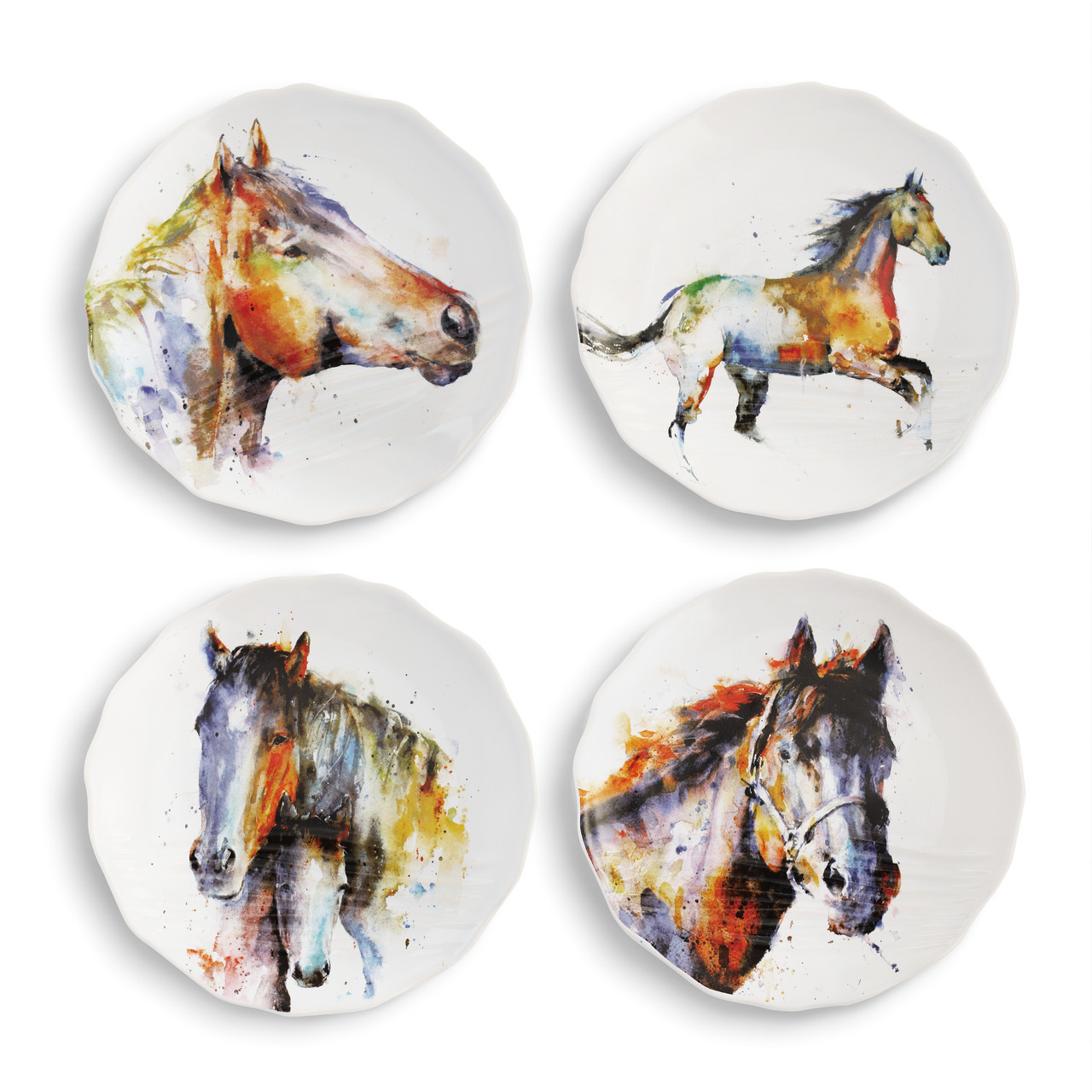 Equine Appetizer Plate Set of 4