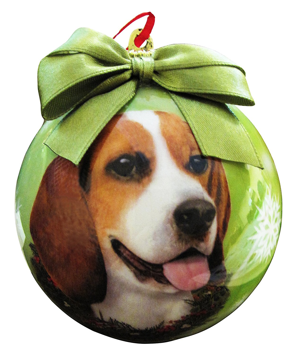 Beagle Christmas Ornament Shatter Proof Ball