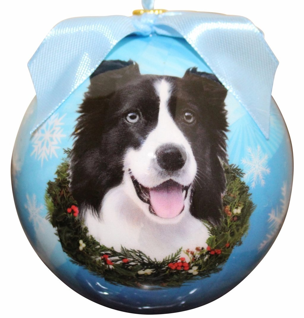 """Border Collie Christmas Ornament"" Shatter Proof Ball"