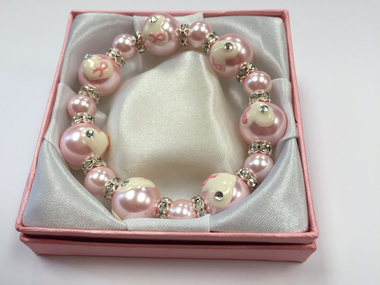 PINK RIBBON LUXI BRACELET WITH GIFT BOX