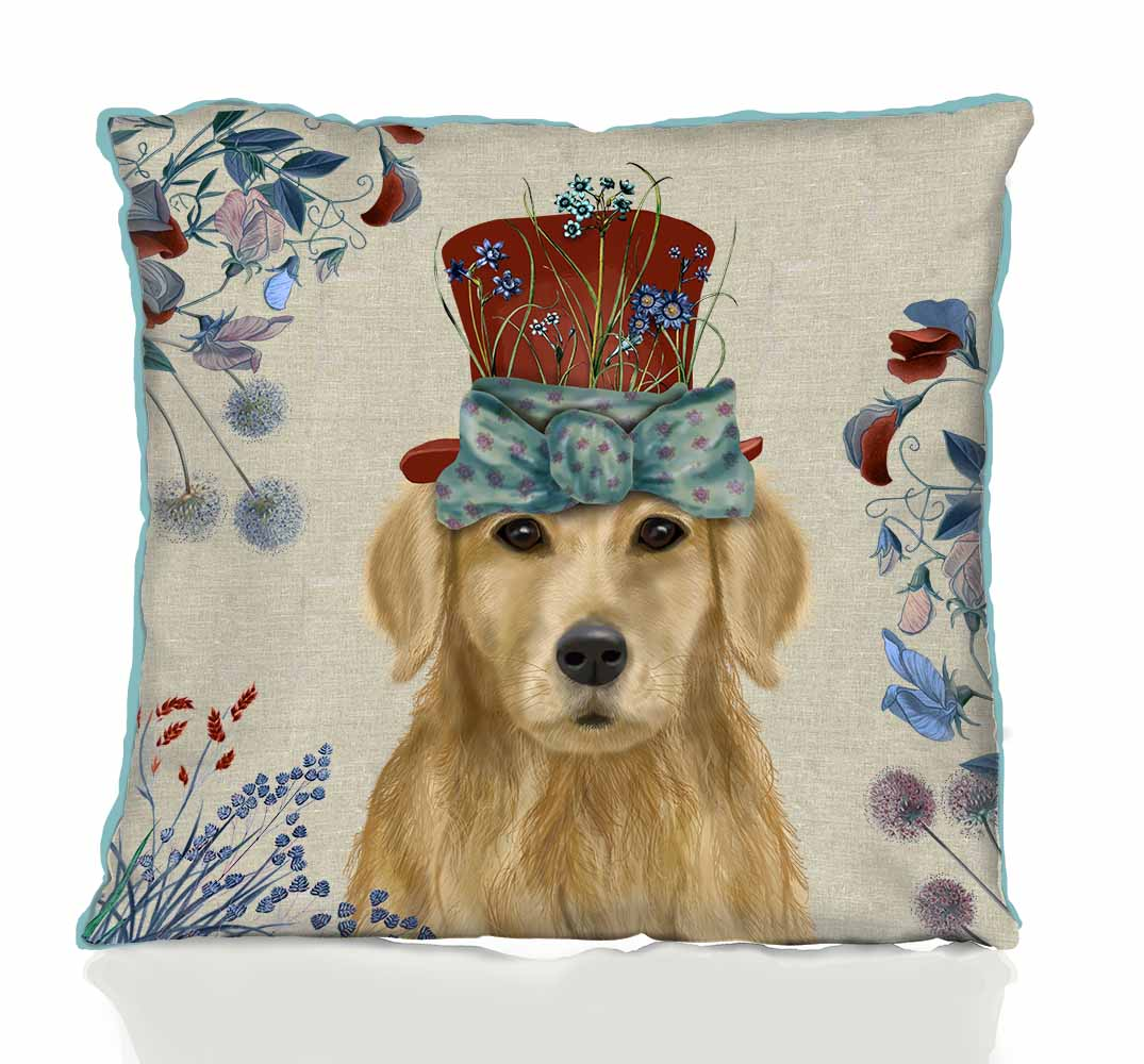Milliner Golden Retriever Pillow