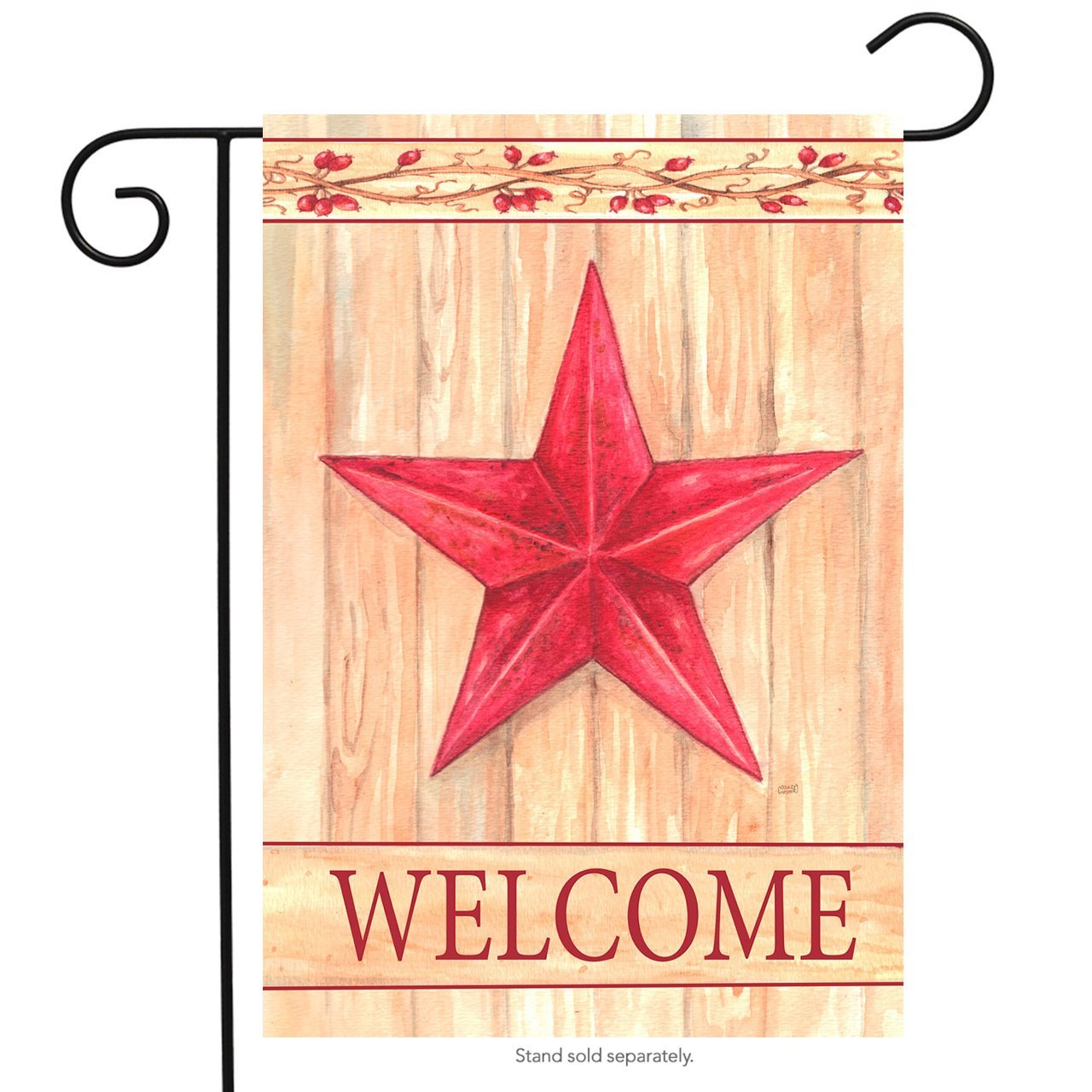 Barn Star Welcome Primitive Garden Flag Country Yard Banner