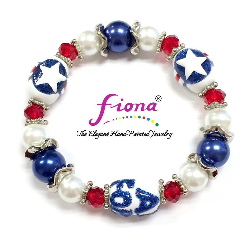 Air Force Bracelet - Red/White/Blue, AIR FORCE